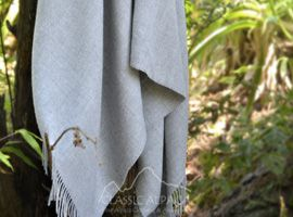 Woven & Brushed Baby Alpaca Throw | Classic Alpaca Peru