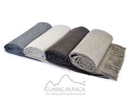 Woven & Brushed Royal Alpaca Throw | Classic Alpaca Peru