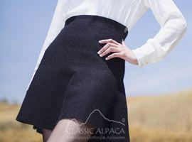 Reversible Baby Alpaca Flared Skirt | Classic Alpaca Peru