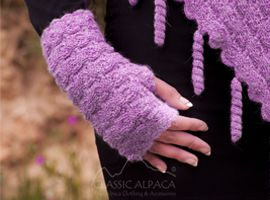 Rebecca Baby Alpaca Fingerless Gloves