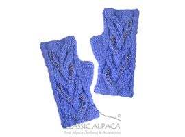 Diana Cable Alpaca Fingerless Gloves