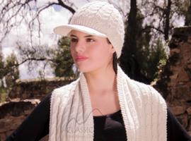 Multi Cable Alpaca Brimmed Hat