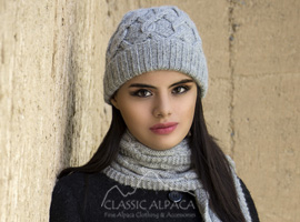 Snake Cable Alpaca Hat