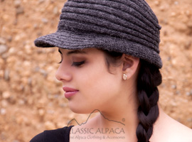 Ribbed Brimmed Alpaca Hat