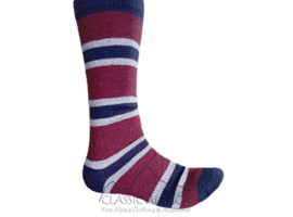 Multi-Striped Simply Alpaca Socks