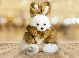 BABY ALPACA FUR- Standing Bunny Ornament 14 inches