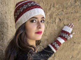 Winter Color Alpaca Hat