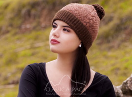 Gisell Cable Alpaca Hat
