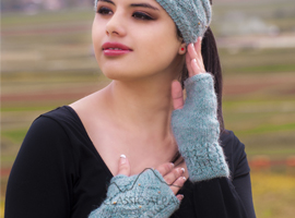Doris Alpaca Fingerless Gloves
