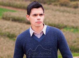Alpaca Sweater Mens Pullover Vneck