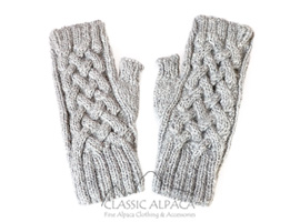 Shadow Cable Alpaca Fingerless Gloves