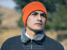 Double Knit Alpaca HUNTER Hat