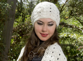 Lace Flower Alpaca Hat