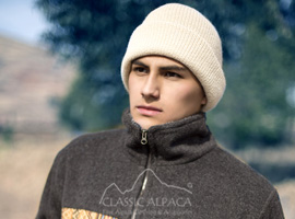 Men's Double Knit English Alpaca Hat