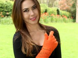 Double Knit Alpaca Hunter Gloves