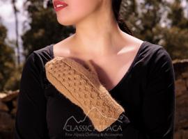 Hand Knit Snake Alpaca Mittens