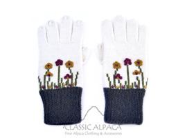 Embroidered Garden Alpaca Gloves