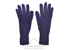 Snake Cable Alpaca Gloves