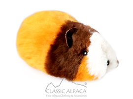 ALPACA Fur - Cotton - Kandi Guinea Pig Ornament 12 inches