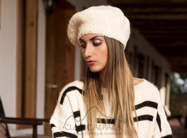 Alpaca Boucle Hat Beret