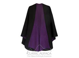 Alpaca Reversible Fabric Wrap Ruana