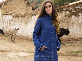 Reversible Alpaca Dress Coat