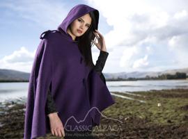 Alpaca Reversible Riding Hood Cape