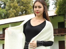 Honeycomb Alpaca Lace Shawl