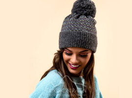 Snowfall Brushed Alpaca Hat