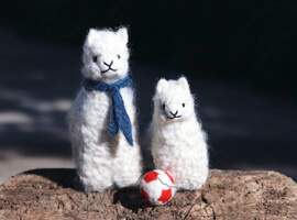 Needle Felted My Father Baby Alpaca