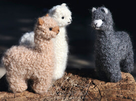 Needle Felted Baby Alpaca