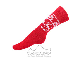 Alpaca Reindeer Unisex Socks   Classic Alpaca Peru