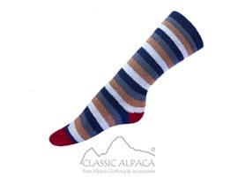 Colours Striped Alpaca Socks   Classic Alpaca Peru