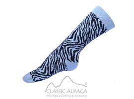 Zebra Alpaca Socks