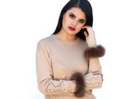 Presley Alpaca Fingerless Gloves with Fur