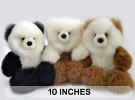 "PREMIUM Baby Alpaca Fur - Teddy Bear 10"""