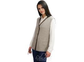 Royal Baby Alpaca Vest & Lambskin Leather