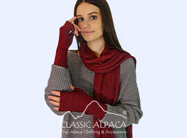 Bohemia Baby Alpaca Fingerless Gloves