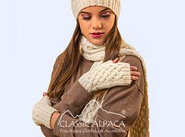 Shadow Cable Alpaca Fingerless Gloves   Classic Alpaca Peru