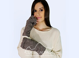 Bienne Baby Alpaca Fingerless Gloves