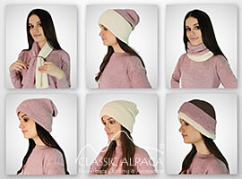 Unisex Multipurpose Baby Alpaca Ribbed Hat