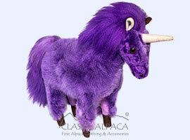 "BABY ALPACA Fur - Unicorn Ornament 12"""