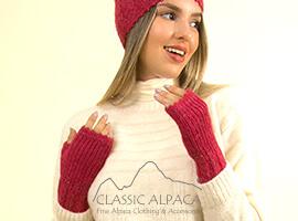 Alpaca Cable Fantasy Fingerless Gloves | Classic Alpaca Peru
