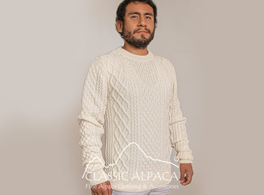 Men's Alpaca Crewneck Pullover Sweater | Classic Alpaca Peru