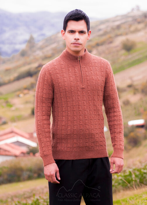 Joseph Zip Neck Alpaca Sweater