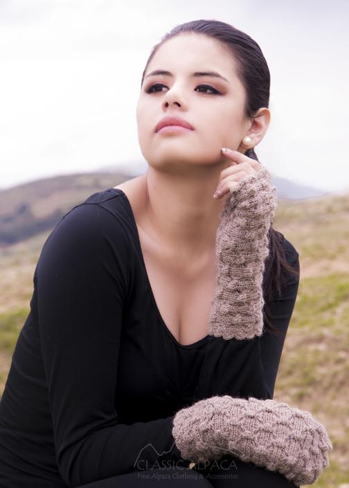 Abigail Alpaca Fingerless Gloves