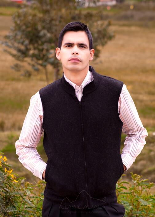 Reversible Alpaca Fabric Sport Vest Men