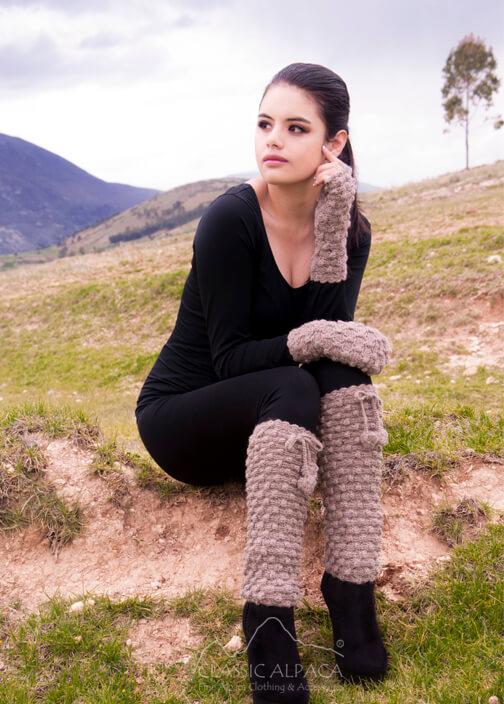 Abigail Alpaca Leg Warmer