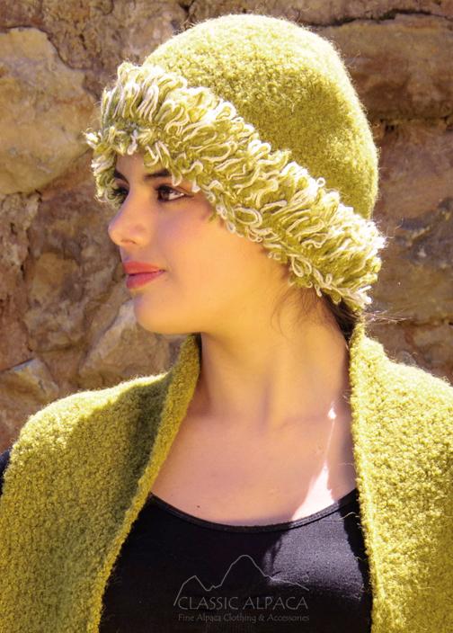 Boucle Fantasy Alpaca Hat