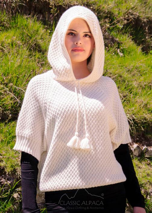 Short Sleeve Alpaca Hoodie